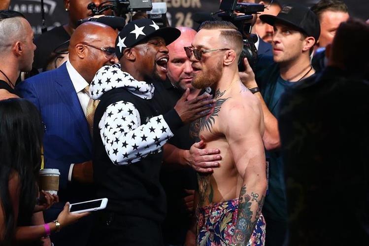Floyd Mayweather Jr. y Conor McGregor se enfrentarán el 26 de agosto en Las Vegas Nevada. (Foto Prensa Libre: AFP)