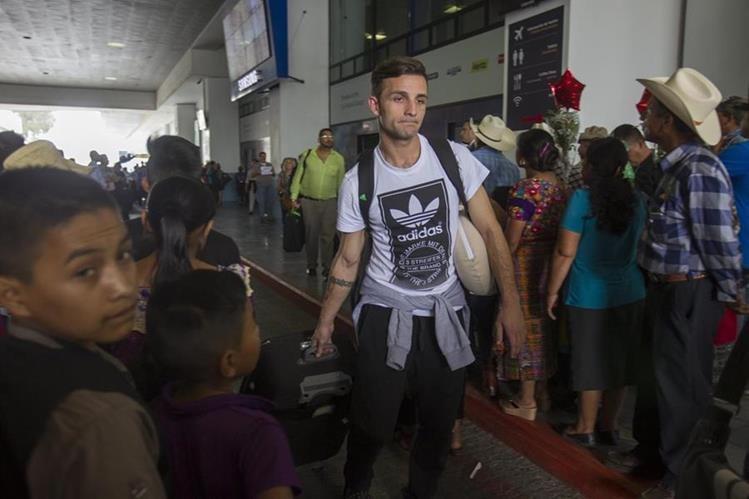 El defensor argentino Matías Giammalva de 30 años nuevo refuerzo de Comunicaciones para el torneo apertura 2016. (Foto Prensa Libre: Norvin Mendoza)