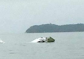 La avioneta que cayó en la costa Paraty, en Río de Janeiro.