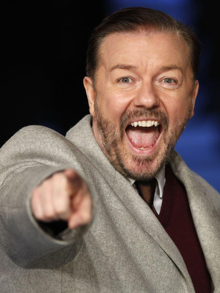 El humorista británico Ricky Gervais presentará los Globos de Oro en Los Ángeles. (Foto Prensa Libre: AFP)