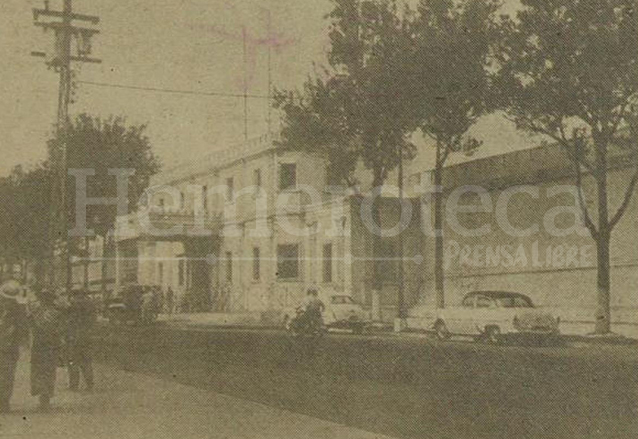 Fachada de la Penitenciaría Central, en lo que hoy es la 7a. avenida. (Foto: Hemeroteca PL)