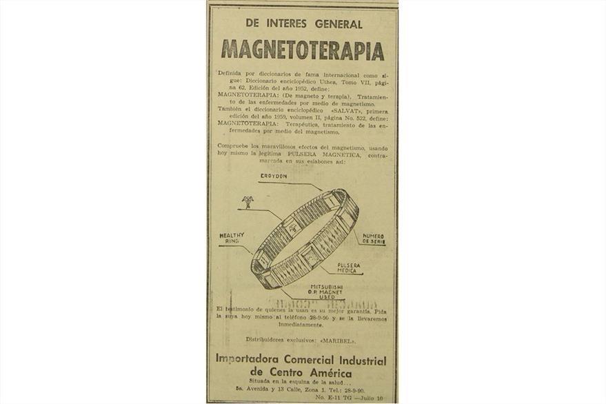 Pulsera mágica, un regalo promocionado en julio de 1961. (Foto: Hemeroteca PL)