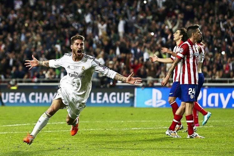 Sergio Ramos fue el verdugo del Atlético de Madrid en la final de la Champions del 2014. (Foto Prensa Libre: EFE)