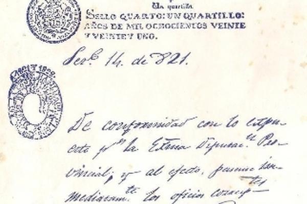 <p>Página inicial del Acta de Independencia. (Foto Prensa Lilbre Archivo)<br></p>