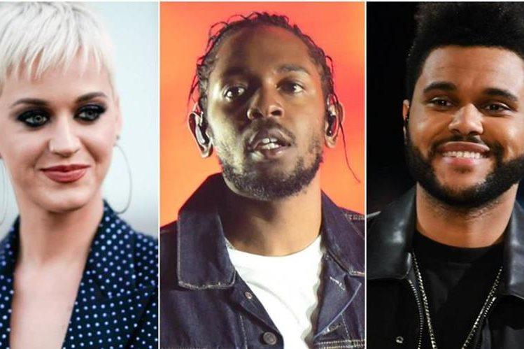 Katy Perry, Kendrick Lamar y The Weeknd destacan en una MTV Video Awards sin distinción de género (Foto Prensa Libre: MTV).