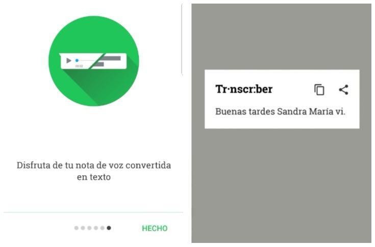 La aplicación Transcriber para WhatsApp, permite transcribir los audios en formato de texto. (Foto Prensa Libre)