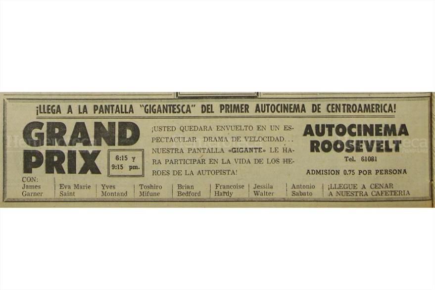 Autocinema, una novedad en los octubres de la década de 1970. (Foto: Hemeroteca PL)