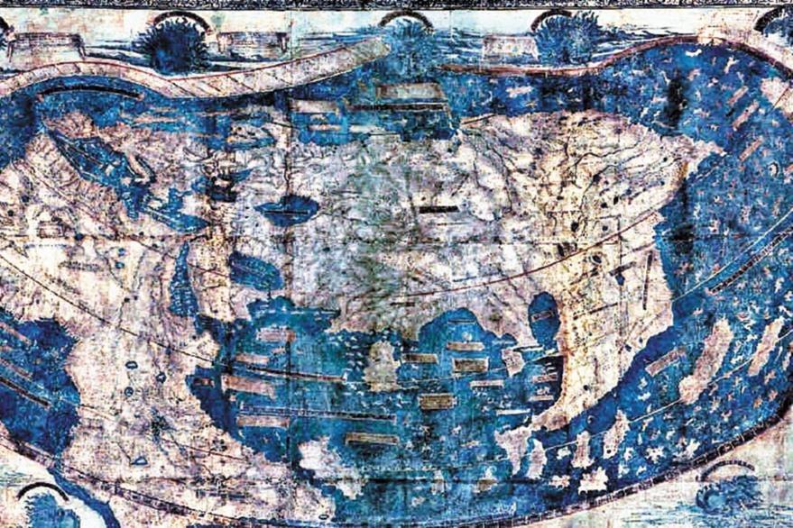 Mapa Martellus conservado en la Universidad de Yale, EE. UU.