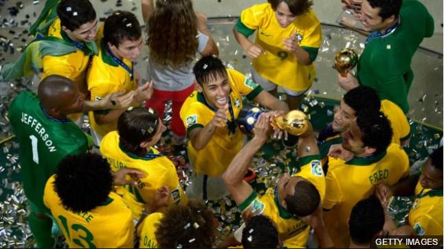 Brasil ganó las últimas tres ediciones de la Copa Confederaciones, cuatro en total, pero nunca pudo repetir en el mundial al año siguiente.
