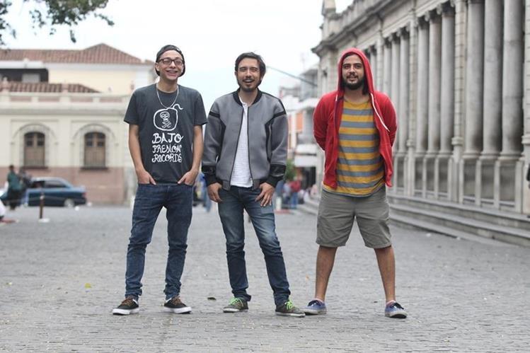 Kontra Marín, David Lemus y Francis Rodríguez promocionan diversidad musical. (Foto Prensa Libre: Keneth Cruz)