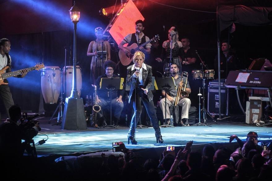 Gloria Trevi disfrutó el concierto que ofreció en Guatemala. (Foto Prensa Libre: Keneth Cruz)