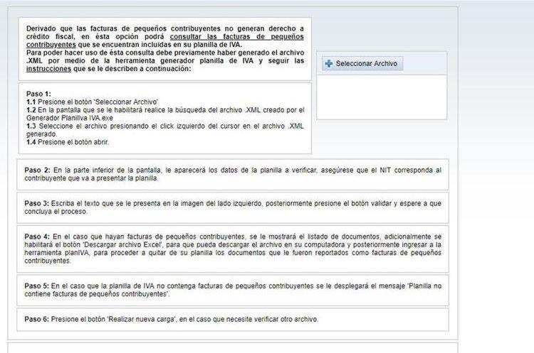 Proceso para validar facturas. (Foto, Prensa Libre: SAT).