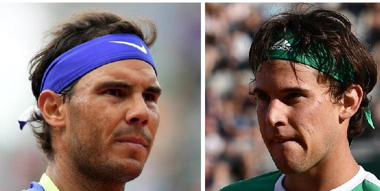 Nadal (izquierda) tendrá un duro reto contra Thiem. (Foto Prensa Libre: EFE)