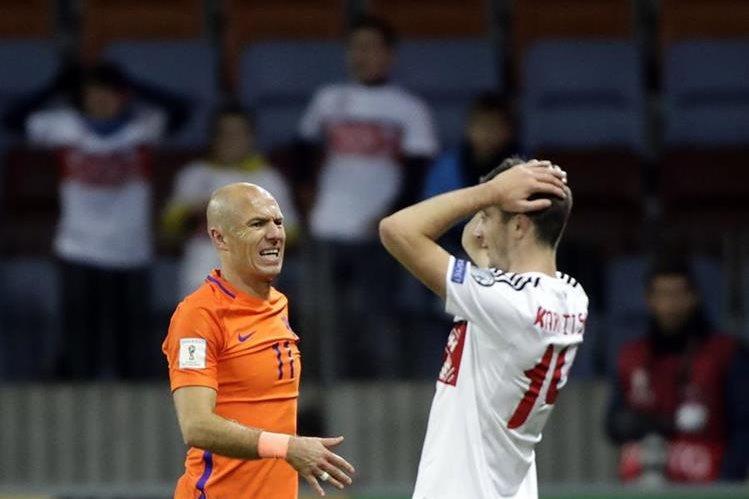 Robben no ha logrado su sueño de ser campeón del mundo con Holanda. (Foto Prensa Libre: AP)