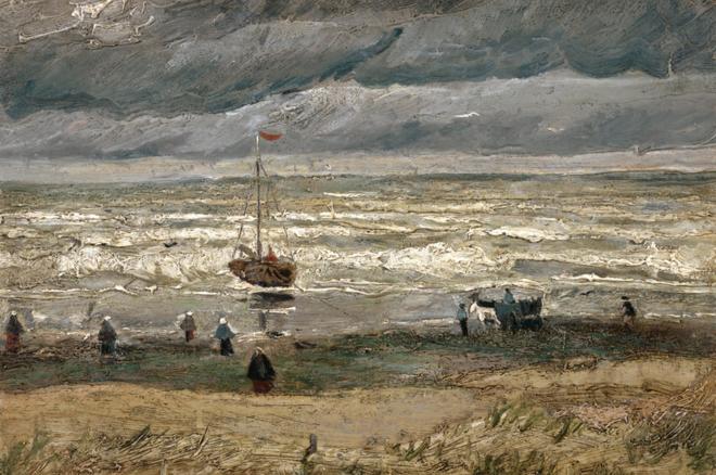 """La pintura """"Vista de la playa de Scheveningen"""" ha sido descrita por los expertos como invaluable. MUSEO VAN GOGH"""