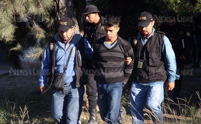 Un capturado en zona 8 de Huehuetenango, reportan hasta ahora las autoridades. (Foto Prensa Libre: Mike Castillo)