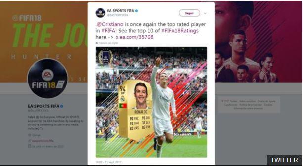 Además de ser el mejor jugador del juego, Ronaldo también es su imagen de portada.