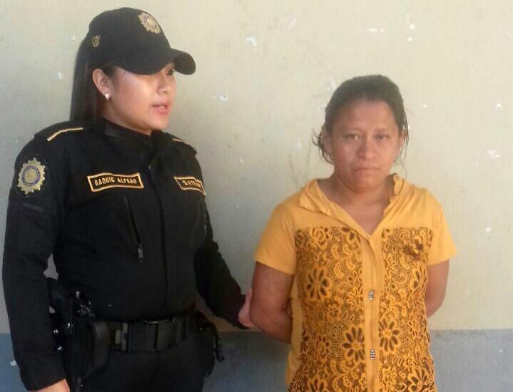 Rosaura Herrera López fue capturada en Huehuetenango por el delito de extorsión. (Foto Prensa Libre: Cortesía).