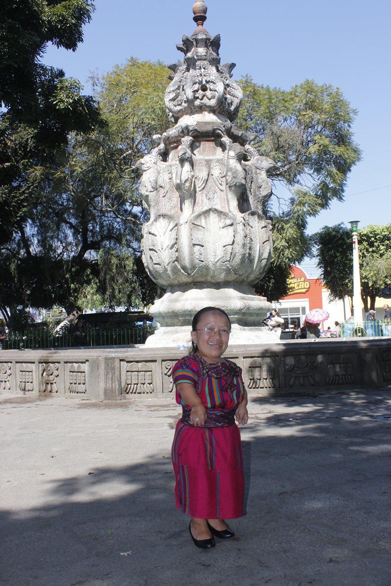En el  2015 fue  declarada vecina distinguida por autoridades de la Municipalidad  de  Chimaltenango. (Foto Prensa Libre: Víctor Chamalé)