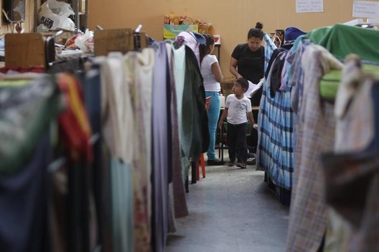Sólo 32 familias están en el albergue municipal. (Foto Prensa Libre: Edwin Bercián)