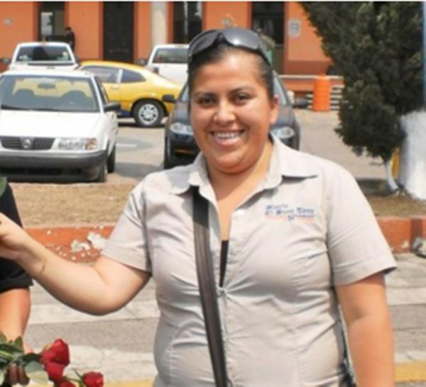"""Anabel Flores Salazar, reportera de notas policiales para el periódico """"El Sol de Orizaba""""."""