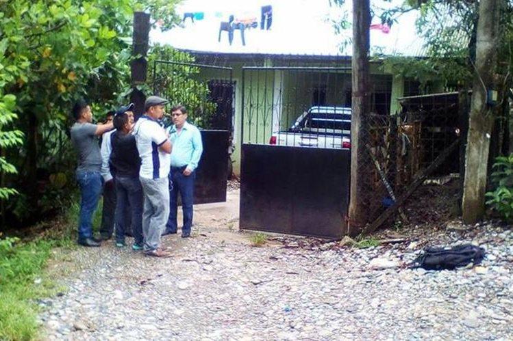 Vivienda del alcalde de Ixcán Quiché, Raúl Gutiérrez Ardón.(Foto Prensa Libre: Héctor Cordero)