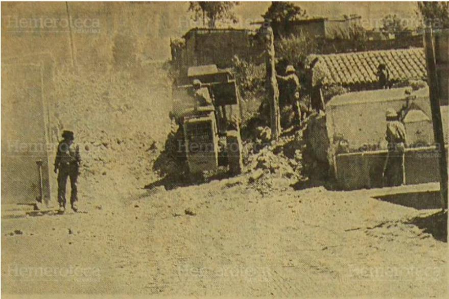 Descombramiento en la provincia, luego del terremoto de febrero de 1976. (Foto: Hemeroteca PL)