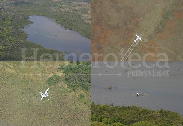 Varios aspectos de las avionetas abandonadas por los narcos, son desmanteladas para evitar que sean utilizadas por las autoridades. (Foto: Hemeroteca PL)
