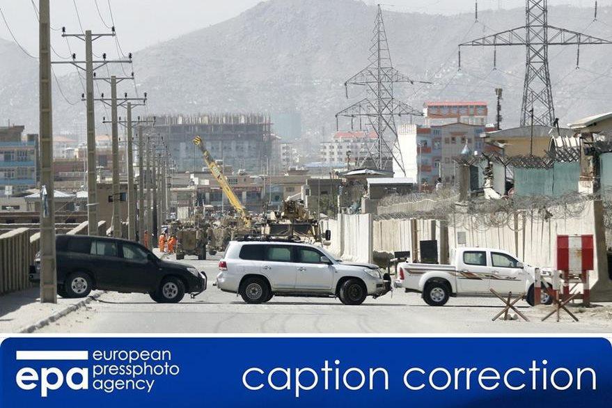 Base militar que fue atacada por talibanes en Afganistán. (Foto prensa Libre: EFE)
