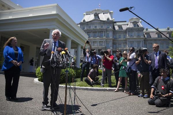Bernie Sanders dijo que luchara para evitar que Trump gane las elecciones.(AFP).