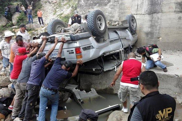 Lugar donde murieron los dos hermanos en el límite entre Jalapa y Monjas. (Foto Prensa Libre: Hugo Oliva)