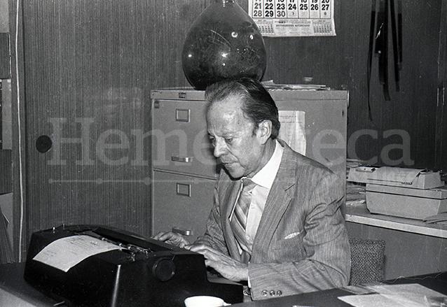 Don Pedro Julio García en vida. Destacó en el ámbito periodístico y en el cultural y social. (Foto: Hemeroteca PL)