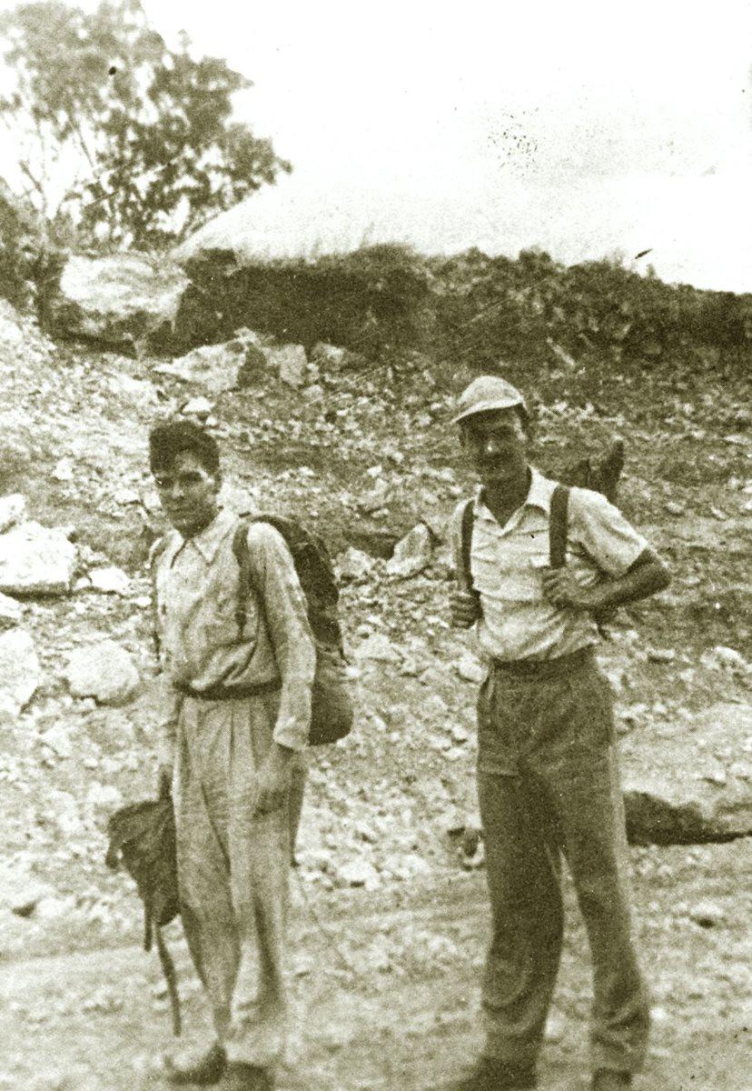 Ernesto Guevara y Ricardo Rojo durante su viaje en 1953. (Foto: Hemeroteca PL)