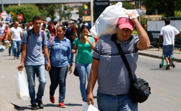 El Puente Internacional Simón Bolívar es el principal cruce migratorio entre Venezuela y Colombia. GETTY IMAGES
