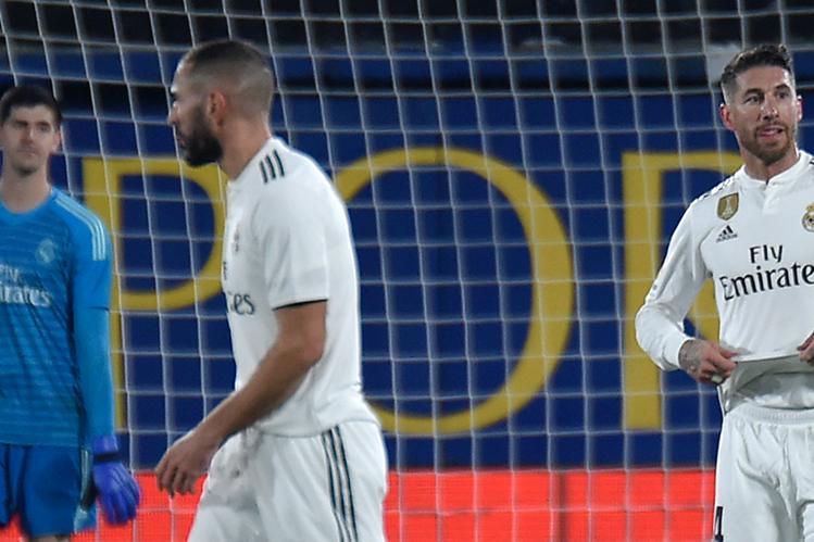 El Real Madrid no pudo en su visita al estadio La Cerámica de Villarreal. (Foto Prensa Libre: AFP)