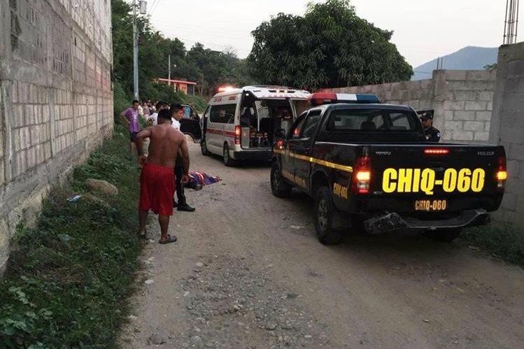 El profesor fue ultimado cuando se dirigía a la escuela donde laboraba.(Foto Prensa Libre: Mario Morales.)