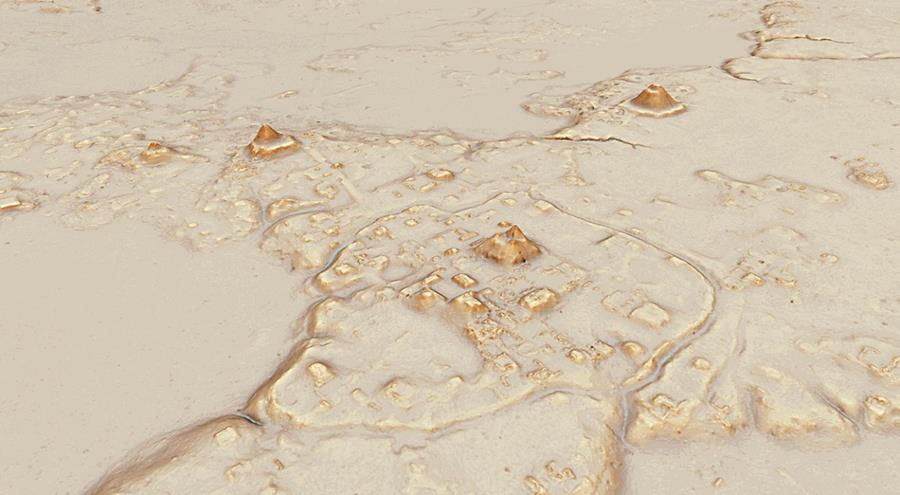 Mapa de Tikal con la tecnología LiDAR (Foto Prensa Libre: Pacunam / Canuto y Auld-Thomas).