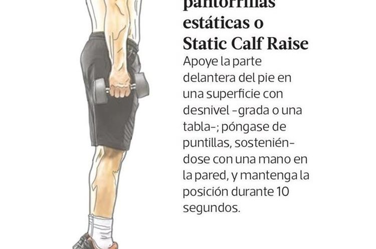 Elevaciones de pantorrillas estáticas o Static Calf Raise