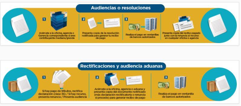 También el ente tributario detalla los pasos para consultar temas de rectificaciones, audiencias (incluyendo en aduanas) o resoluciones. (Foto, Prensa Libre: SAT)