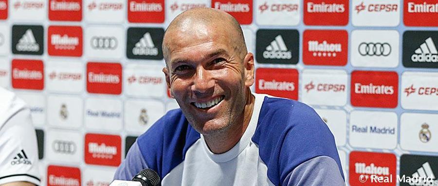 Zinedine Zidane durante la rueda de prensa en Montreal. (Foto Prensa Libre: Real Madrid)