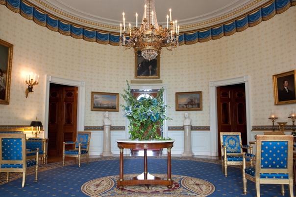 """La """"habitación azul"""" de la Casa Blanca.  (Foto tomada del sitio: www.whitehouse.gov)."""