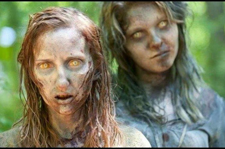Richardson interpretó a uno de los zombies de la serie de televisión The Walking Dead. (Foto Prensa Libre: YouTube)