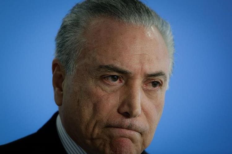 Otro escándalo sacude al presidente interino de Brasil, Michel Temer. (Foto Prensa Libre: EFE)