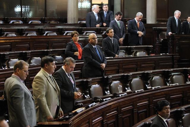 Se prevé que el hemiciclo esté semivacío este martes durante la sesión plenaria. (Foto Prensa Libre: Hemeroteca PL)
