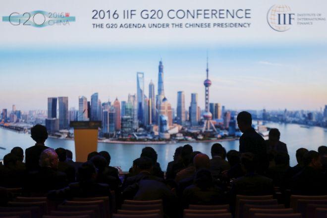 Cartel promocional de reunión del G20 en Shanghái. (Foto PL: data1.ibtimes.sg/