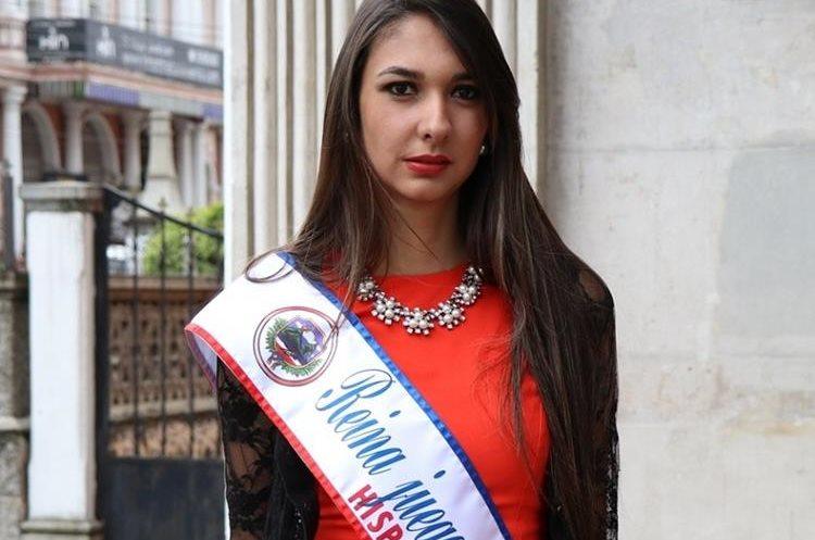 María Alejandra Campollo Rodríguez, Reina de los Juegos Florales Hispanoamericanos de Quetzaltenango. (Foto Prensa Libre: María José Longo)