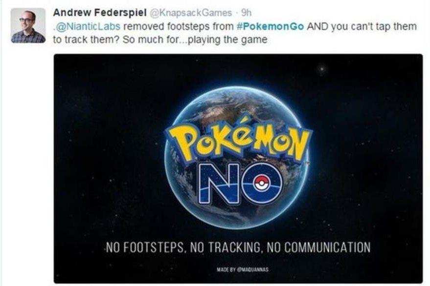 """""""No huellas, no seguimiento, no comunicación"""". La queja de un usuario en Twitter por la actualización del juego. (TWITTER)"""