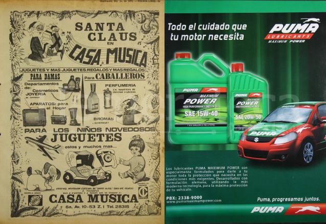 La publicidad ayer y hoy. A la izquierda, anuncio de 1973. A la derecha un anuncio de 2005. (Foto: Hemeroteca PL)