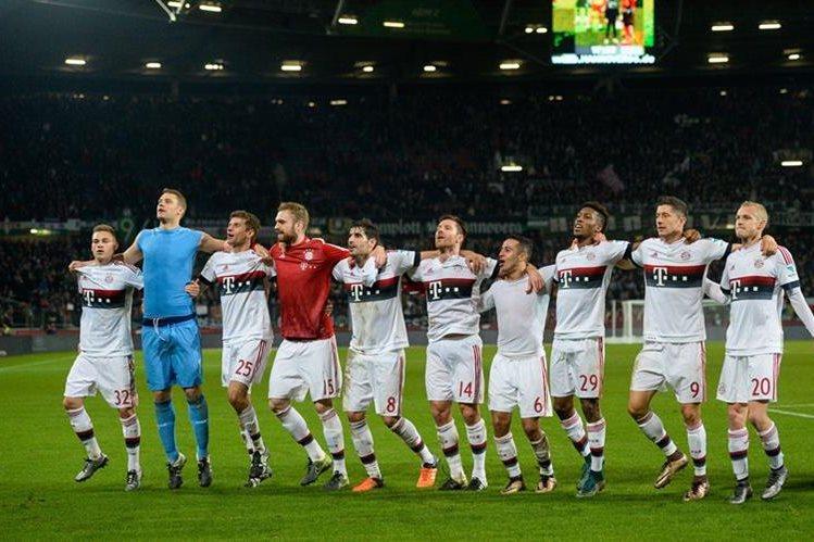 El Bayern sigue con un paso imparable en la Bundesliga. (Foto Prensa Libre: AFP)