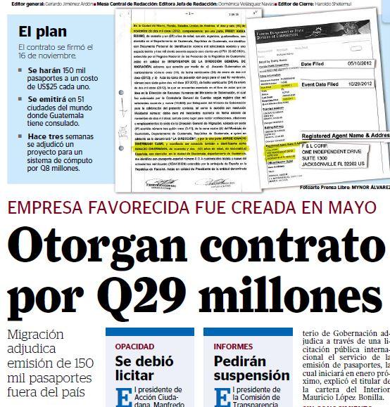 En el 2012 Migración adjudicó un concurso por Q29 millones a una de las empresas de Uri Roitman.